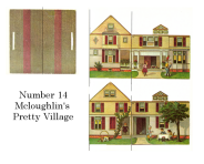Free miniature printable - number 14 from McLoughlin's Pretty Village set