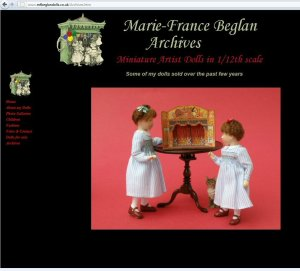 Dolls from the Marie France Beglan archives with an Elizabeth Plain theatre