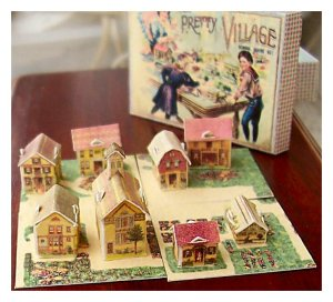 Miniature McLoughlin Pretty Village in 12th scale - dolls' house size