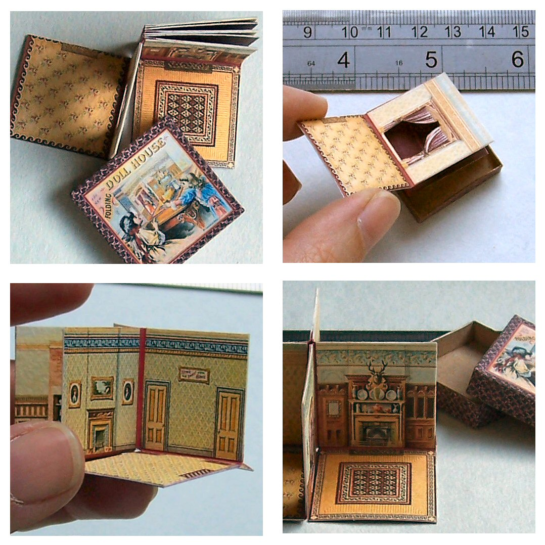Mcloughlin s new folding doll house open house miniatures for Stationary tiny houses for sale