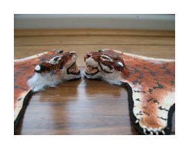 Open House Miniatures - FAKE tiger skin rugs