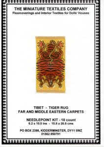 the Miniature Textiles Company - Tibetan Tiger Skin Rug (needlework kit)