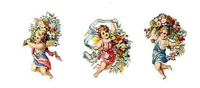 open house miniatures miniatures scrap cherubs