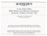Britannia House Catalogue - Sotheby's Sale Notice - 1988