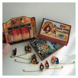 Open House Miniatures Red riding Hood Wooden dolls' house theatre set