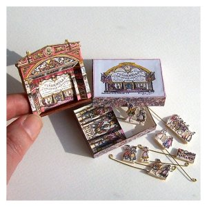 Open House Miniatures - dolls' house Mathews theatre with Cinderella play