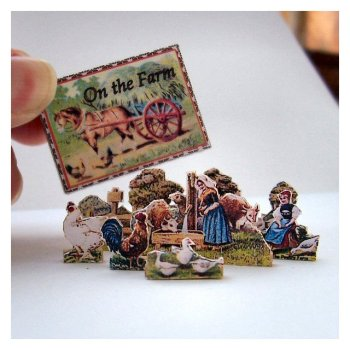 open house miniatures miniature farm set - selected figures only