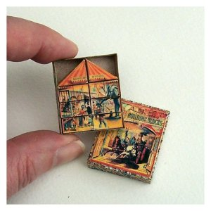 Open House Miniatures - doll house McLoughlin picture puzzle blocks