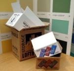miniature cardboard boxes - thumbnail