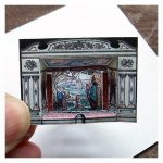 Open House Miniatures - doll house paper fairy Tale Theatre kit (made up)