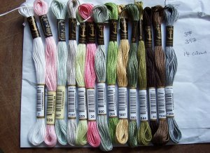 Open House Miniatures - needlework design Anchor thread colours