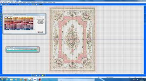 Open House Miniatures - screen shot of needlework carpet design