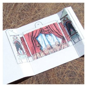 Open House Miniatures - Fairy Tale Theatre Kit - curtain and sides