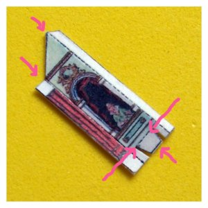 Open House Miniatures - Fairy Tale Theatre Kit - side of proscenium showing folds