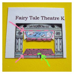 Open House Miniatures - Fairy Tale Theatre Kit - proscenium