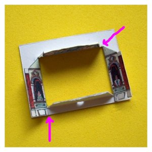 Open House MIniatures - assembling the proscenium