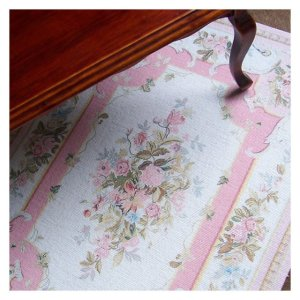 Open House Miniatures - printed carpet - Lucinda (pink)