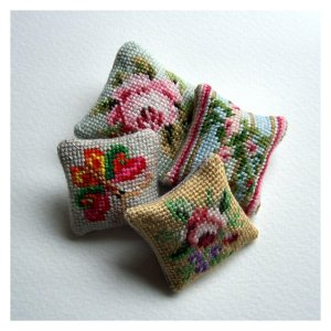 Open House Miniatures - 12th scale needlework cushions