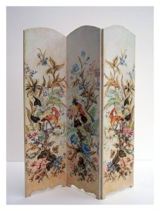 Open House Miniatures - handpainted screen, birds and foliage
