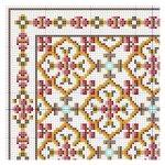 open house miniatures - geometric rose rug chart