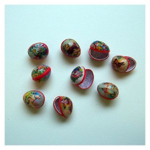 Open House Miniatures - minaiture papier mache easter eggs