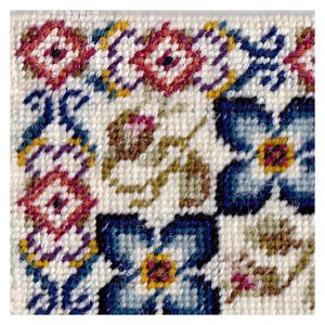 Open House Miniatures - Paula Rose needlework rug corner