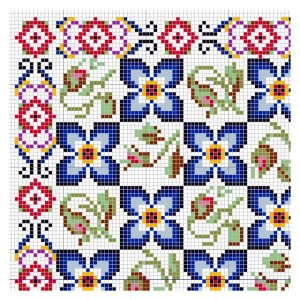 Open House Miniatures - Paula Rose rug - needlework chart