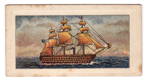 Cigarette Cards No. 20 (of 80) in the series Evolution of the British Navy - no manufacturer name given.
