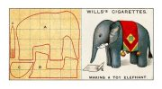 Will Cigarette Card - elephant pattern