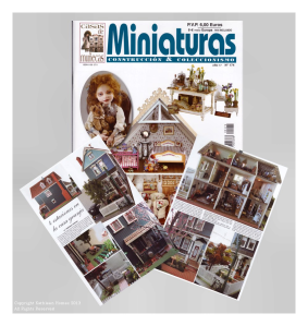 Kathleen Holmes Dollhouse in Miniaturas Magazine