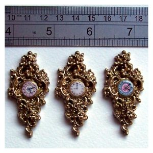 open_house_miniatures_three_cinderella_cartel_clocks_with_ruler