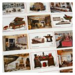 Open House Miniatures - Queen Mary's Dolls' House postcards - not to scale