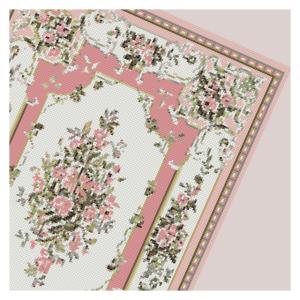 open house miniatures needlework carpet lucinda pink - computer generated