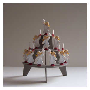 12th scale dollhouse miniature christmas angels on a stand