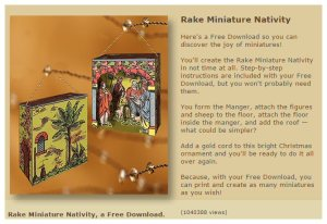 paper model kiosk - paper nativity download - free