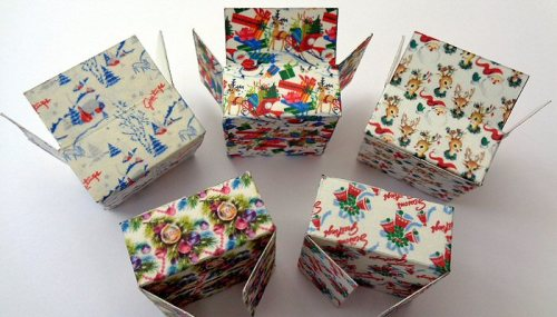 dolls' house christmas boxes -open house miniatures 2017