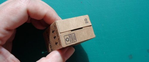 dolls' house cardboard boxes - making 6