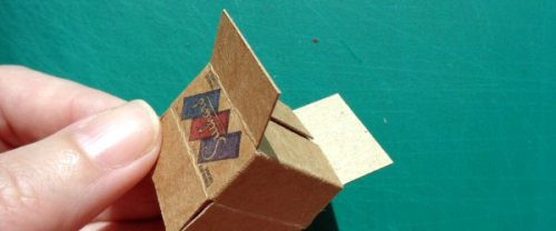 dolls' house cardboard boxes - making 5