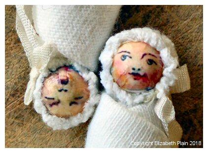 Elizabeth Plain - miniature baby dolls