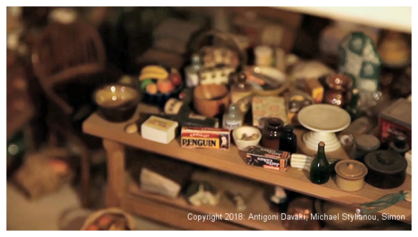 Kristin Baybars - dollhouse interior detail - kitchen table