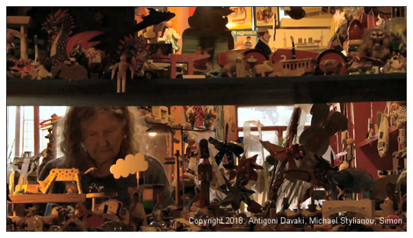 Kristin Baybars - seen through shelves of toys