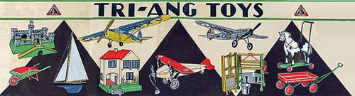 triang banner, showing various toys