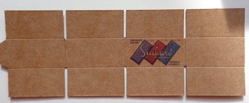 dolls' house cardboard boxes - vintage suchard ready to fold