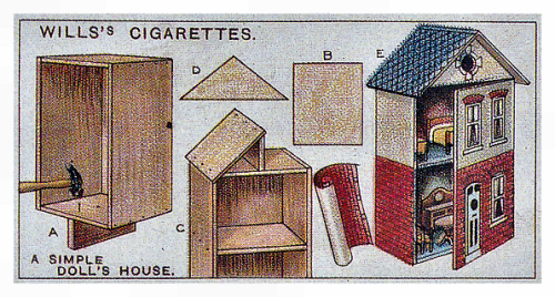wills's cigarette card -making a simple doll's house - not to scale