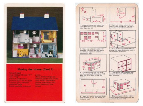 spear's project cards - build your own dolls' house - 1970