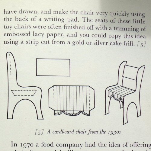 the dolls' house book - pauline flick - 1973 - cardboard chairs from the 1930s