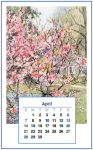 Dollshouse Calendar Back - April
