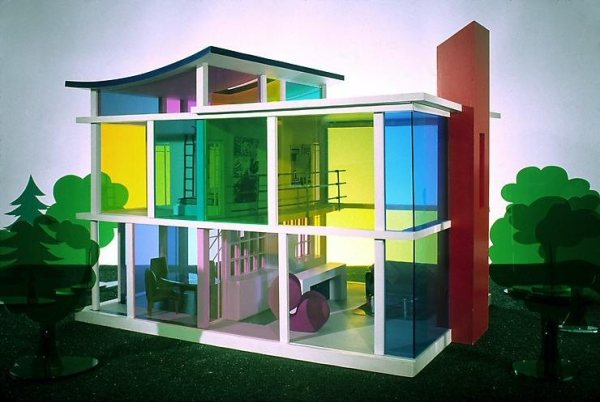 The Kaleidescope House - conceived and designed by Laurie Simmons and architect Peter Wheelwright.