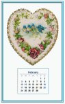 Miniature Calendar Back - February