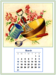 Dolls House Calendar Back - March